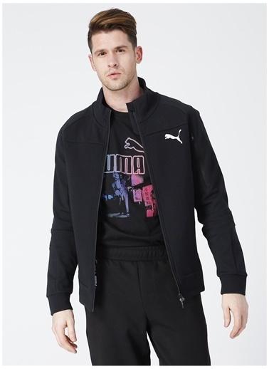 Puma Puma 58146701 Evostripe Jacket Siyah Erkek Zip Ceket Siyah